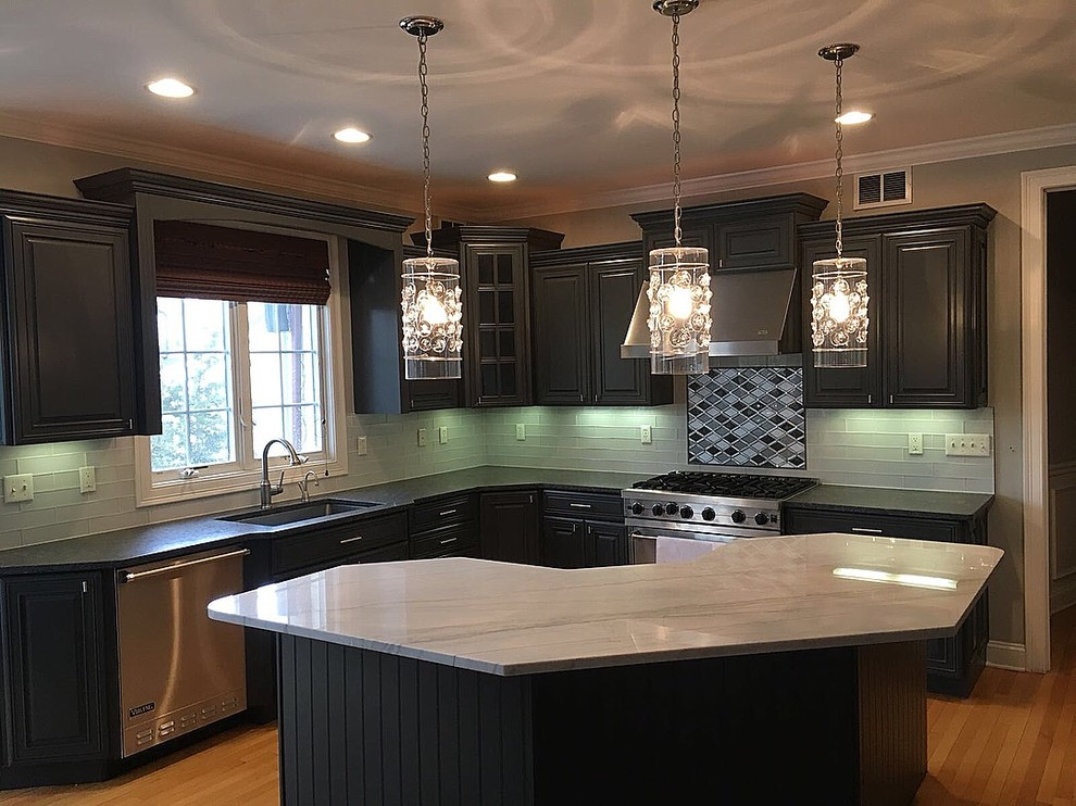 From Cherry Wood Cabinets To Modern Dark Gray Kitchen New York By Uno Group Home Improvements