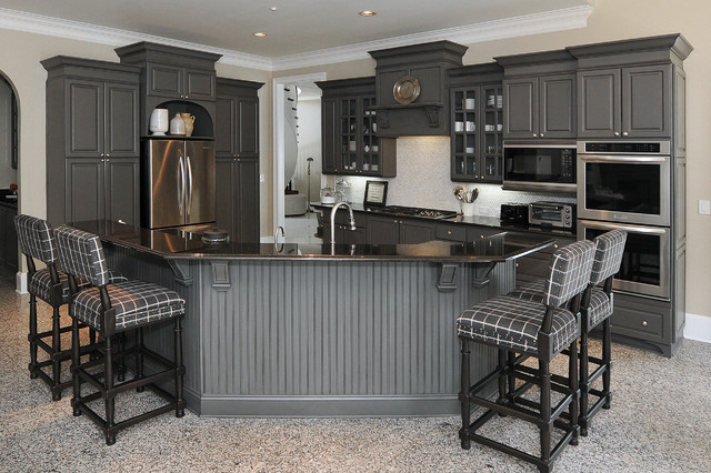 thermofoil kitchen cabinets to gorgeous gray  Traditional  Kitchen