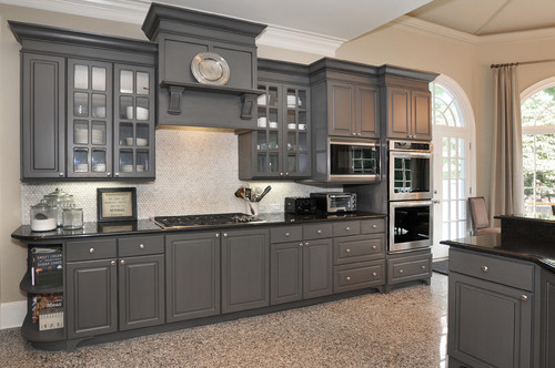 From White Laminate Thermofoil Kitchen Cabinets To Gorgeous Gray