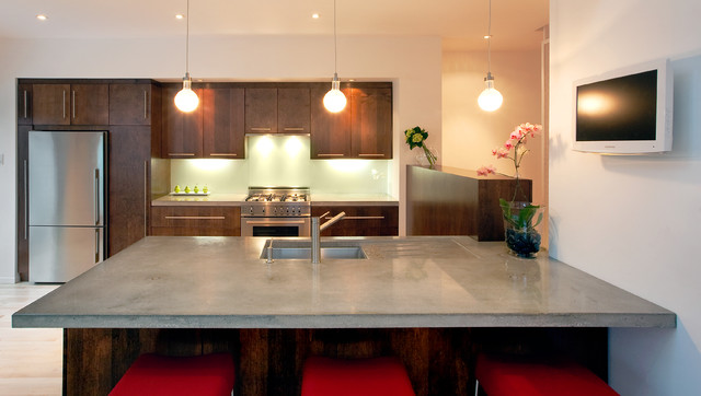 Front to Back Infill contemporary-kitchen