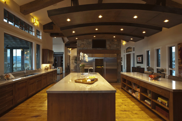Frontier Modernism - Private Residence #1 contemporary-kitchen
