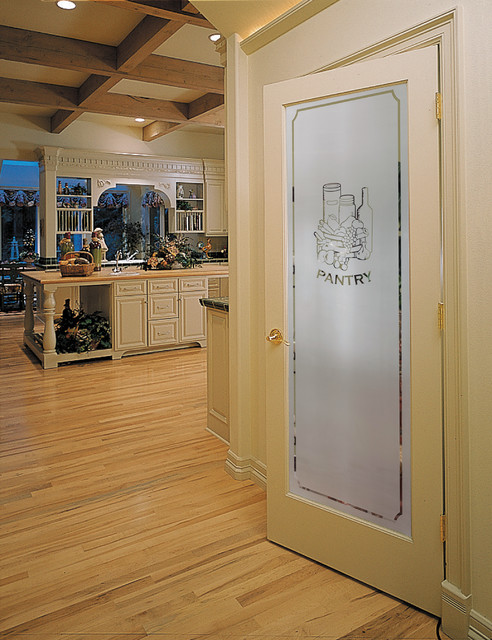 Frosted Pantry Decorative Glass Interior Door - Traditional - Kitchen - sacramento - by ...