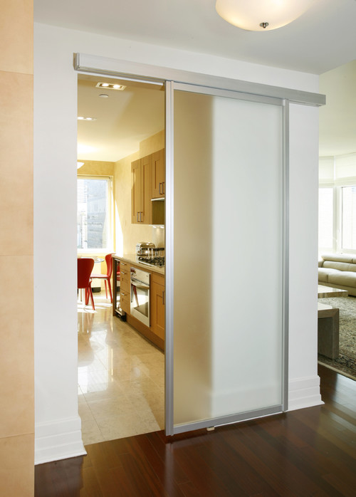 Frosted Sliding Door
