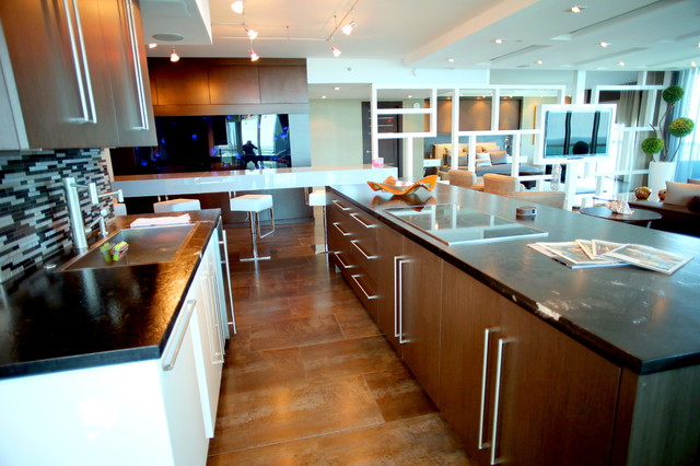 Ft Lauderdale Condo Contemporary Kitchen Miami By Custom Artisan Cab