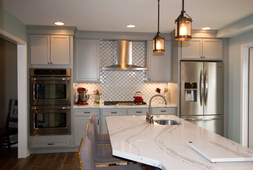 Ft Mitchell Gray Transitional Kitchen Remodel ...