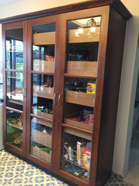 Full height kitchen cabinet in Teak by Hoop Pine - Indian ...