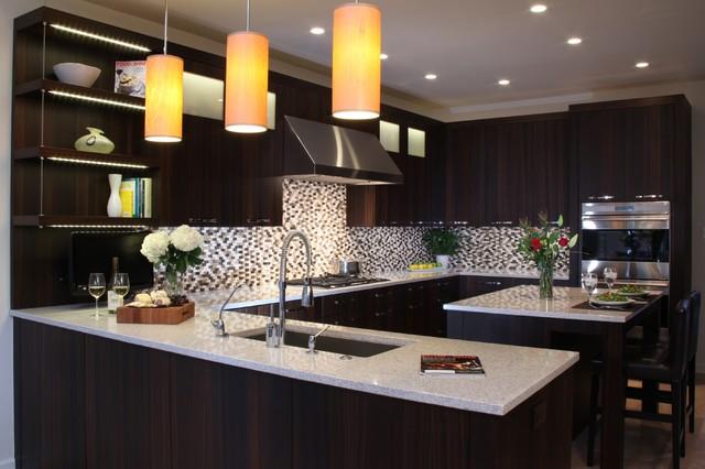 Fumed Oak Modern Kitchen contemporary-kitchen