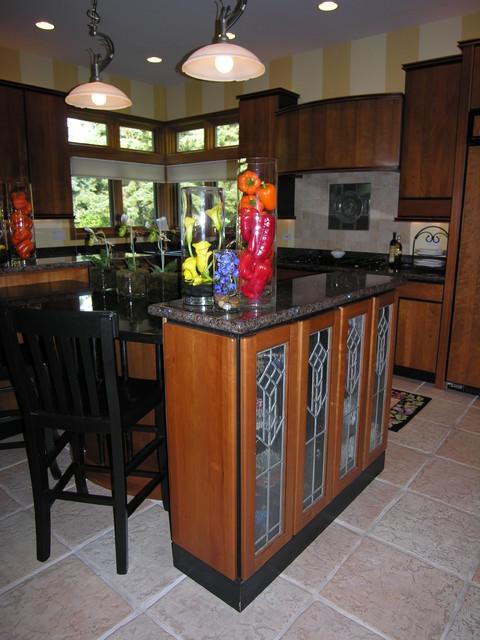Fun with decorative glass contemporary-kitchen