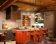 Funky Cabin Kitchen industrial-kitchen