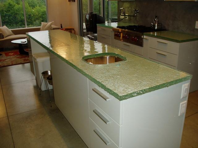 Fusion Glass Countertop - Brooks Custom - Contemporary - Kitchen ...