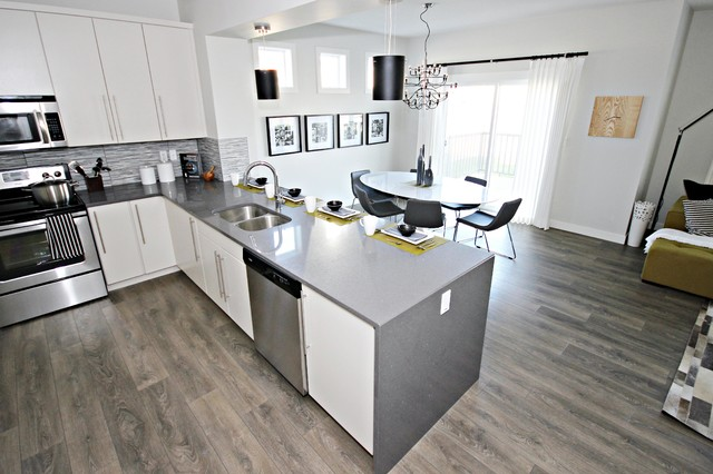 Fusion Showhome in McConachie contemporary kitchen
