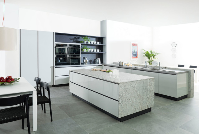 G590 gris claro brillo roble humo modern kitchen by porcelanosa - Keuken porcelanosa ...