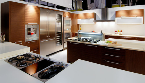 Photo Courtesy of Houzz- Gaggenau Contemporary Kitchen for most reliable appliance brands 2017