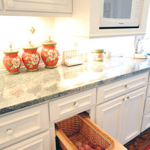 Galley kitchen & family room remodeled into a large kitchen