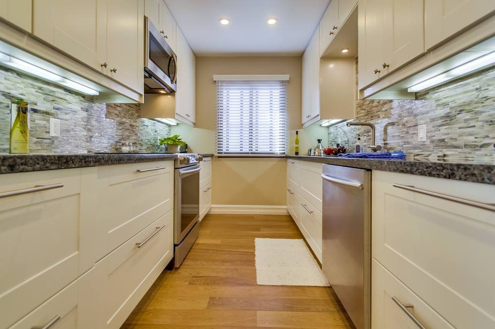 Galley Kitchen at entry