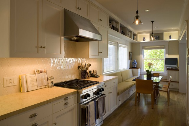 Charming Galley Kitchen With Breakfast Bar 3: Galley Kitchen Designs With Breakfast Bar photo - 7