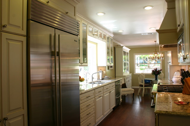 galley kitchen - Traditional - Kitchen - Other - by South Bay Design Center