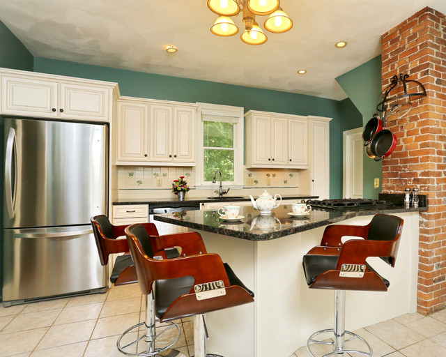 Galley Kitchens With Style Victorian Kitchen Boston By Kitchen Magic