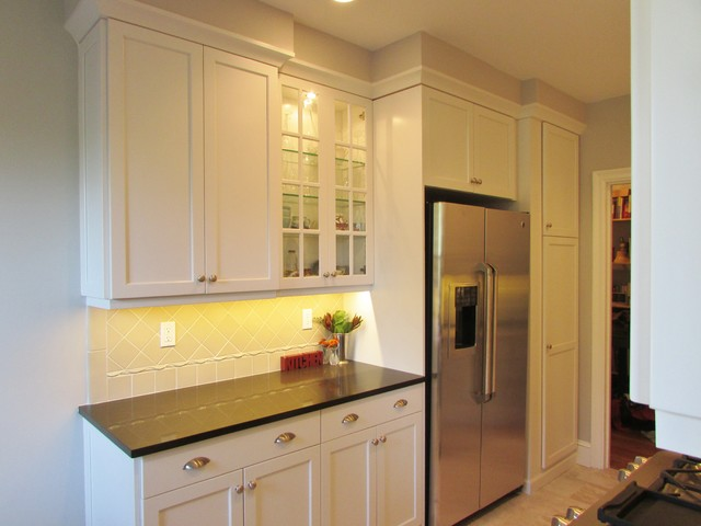 Galley style apartment kitchen transitional kitchen for New york style kitchen design