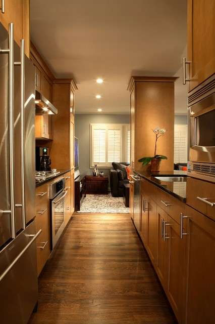Galley style kitchen contemporary kitchen atlanta for Pictures of galley style kitchens