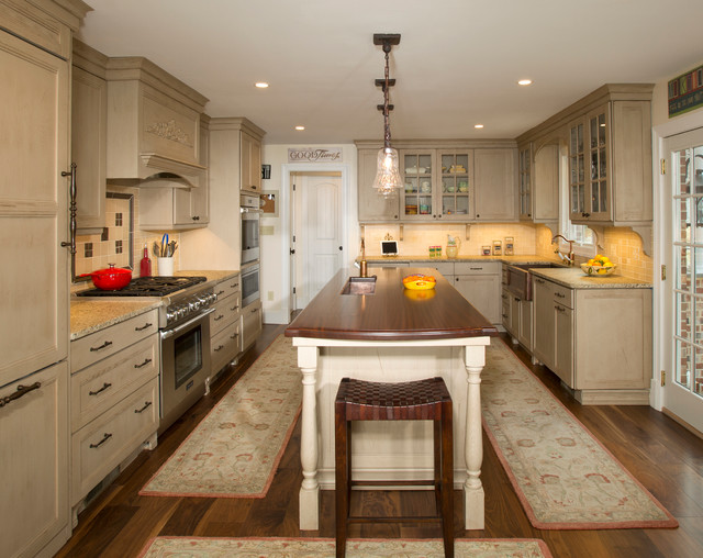 Galley style kitchen with island in olney md traditional for Galley style kitchen with island