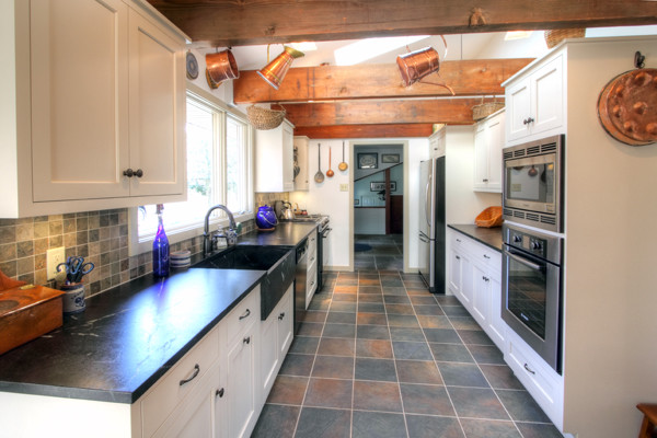 Galley White Country Kitchen Traditional Kitchen Philadelphia By K T Highland Inc
