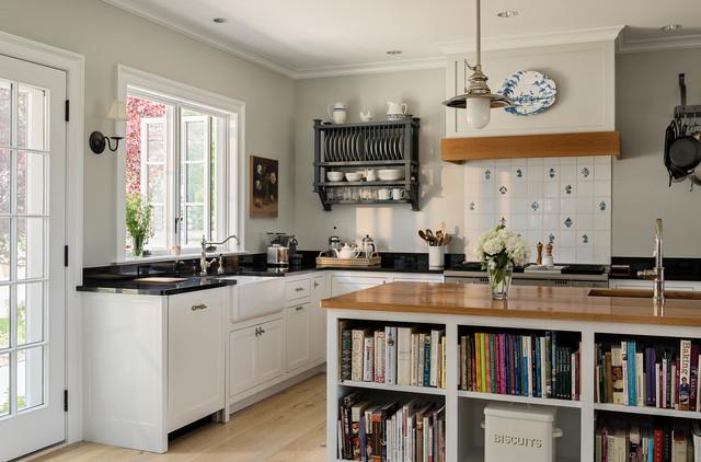 Garage To Kitchen Conversion Landhausstil Kuche Bridgeport Von Crisp Architects