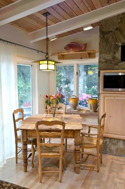 garage to kitchen traditional-kitchen