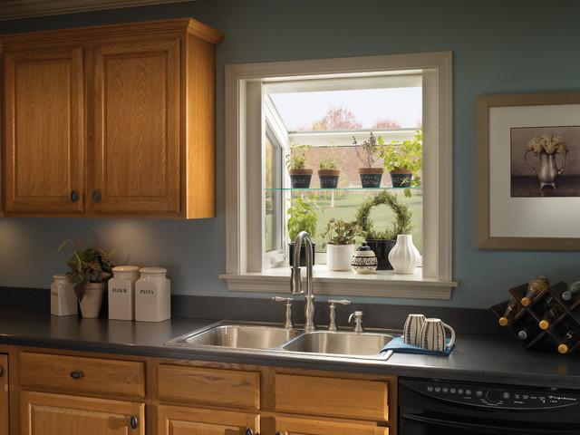 Kitchen Window Treatments Over Sink Plants