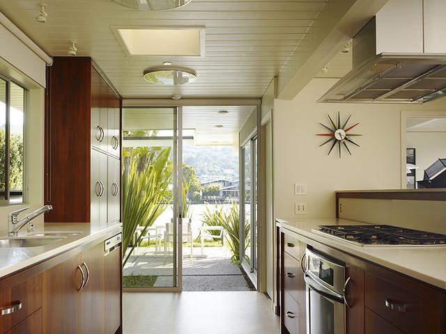 Gary Hutton Lagoon House midcentury-kitchen