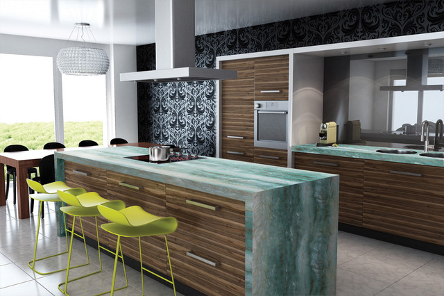 Gaya Quartzite Contemporary Kitchen Miami By