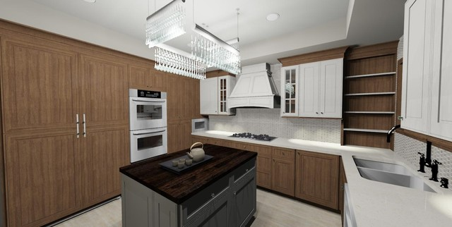 GE Monogram Chicago Design Inspiration Contest - won 1st place transitional-kitchen