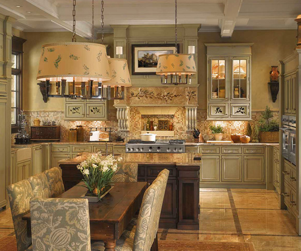 Ge monogram english country kitchen traditional for Traditional english kitchen