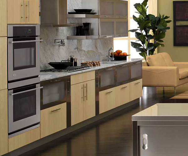 European Kitchens: GE Monogram Stainless European Kitchen