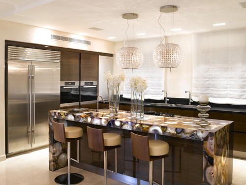 contemporary kitchen Natural Works of Art: Agate in the Home