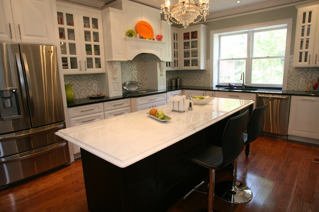 Georgetown Flip Flop Traditional Kitchen Dc Metro By Signature Kitchens Additions Baths