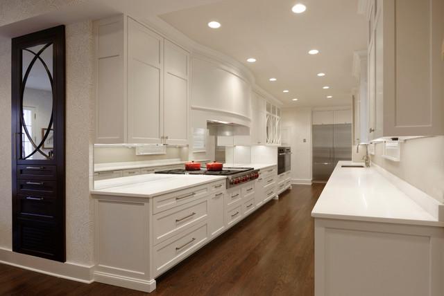 Georgetown Washington Dc Transitional White Galley Kitchen
