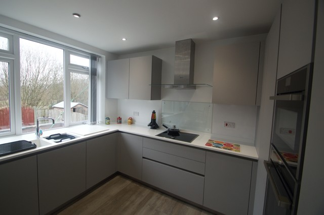 German Schuller Stone Grey Matt Kitchen Elite Kitchens Manchester - Matt grey kitchen cupboards