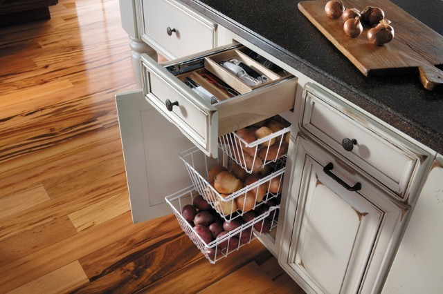 Getting Organized with Fieldstone Cabinetry - Traditional - Kitchen - other metro - by Absolute ...