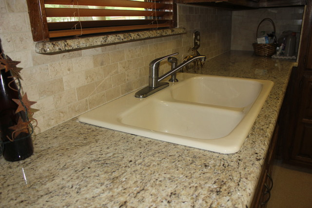 backsplash kitchen designs giallo ornamental granite countertop crema marfil backsplash 10216
