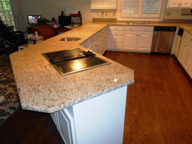 Giallo ornamental granite exceptional for white cabinets for 1 inch granite countertops