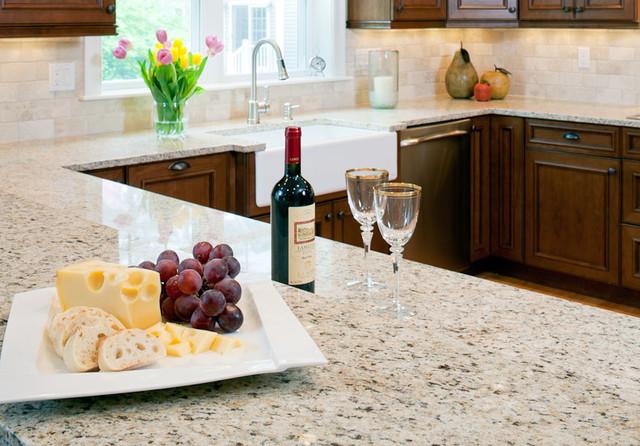 Giallo Ornamentale Granite Counters Modern Kitchen