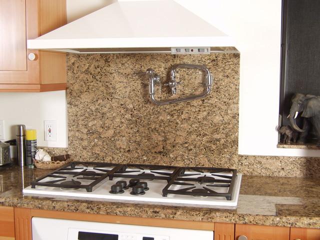 Superb Giallo Veneziano Granite Kitchen Contemporary Kitchen