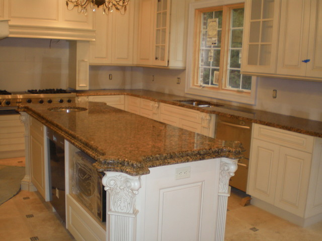 Giallo Vicenza granite - Traditional - Kitchen - new york - by Jersey Granite