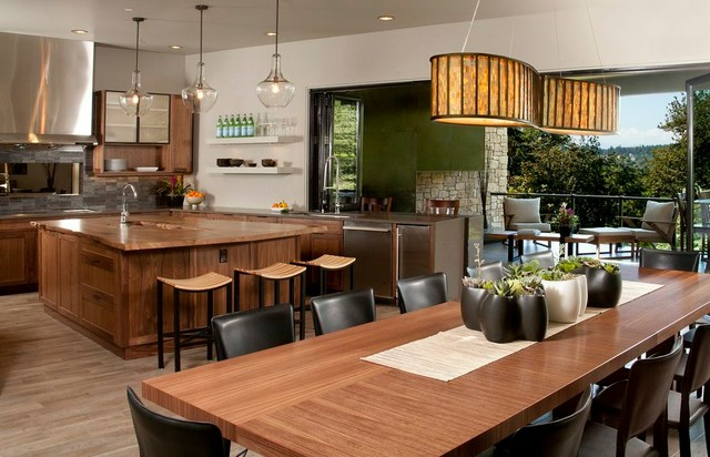 Gig Harbor Great Room Contemporary Dining Room Seattle By Schoenfeld