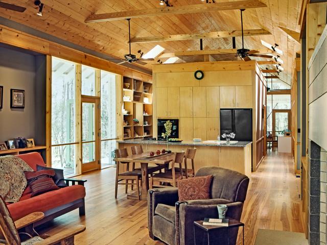 Gillsville House contemporary-kitchen
