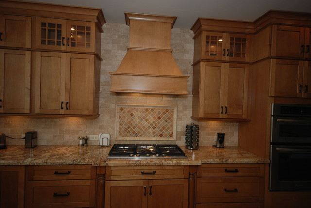 Ginger Glaze/ Granite - Traditional - Kitchen - other metro - by Blue River Cabinetry