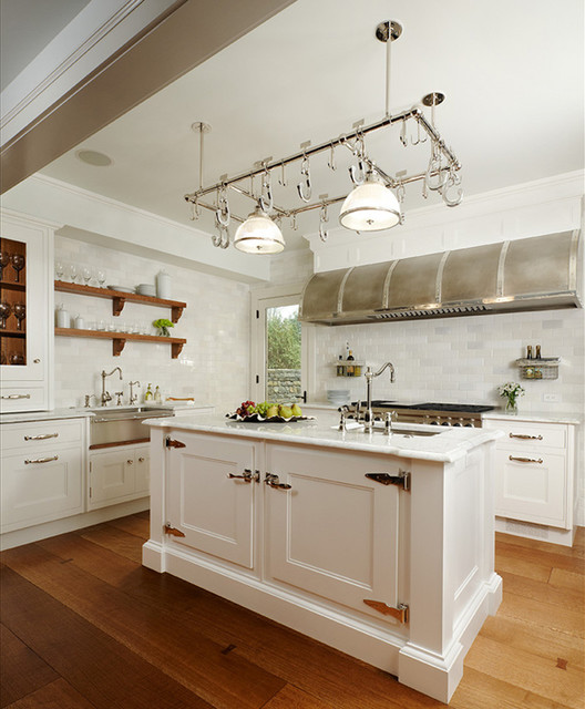 Glacier White Marble traditional-kitchen