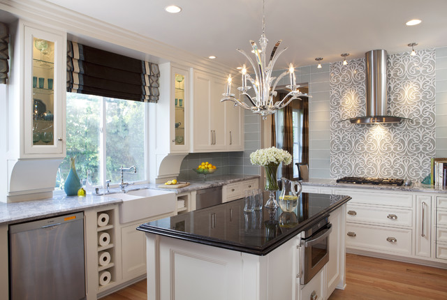 Glam Kitchen - Traditional - Kitchen - san diego - by Robeson Design