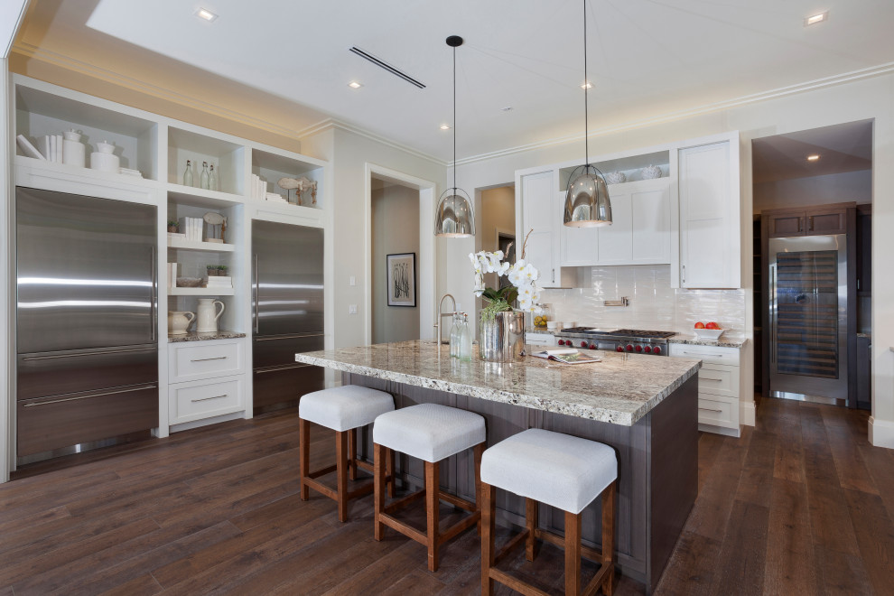 Glam Kitchen With Contemporary Elements, Kitchen Cabinets Delray Beach Fl